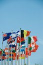 International flags Royalty Free Stock Photos