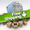 International free shipping Royalty Free Stock Photo