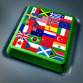 International global flags computer key Royalty Free Stock Photo