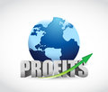 International globe profits illustration design over a white background Royalty Free Stock Photo