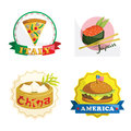 International gourmet food icons Royalty Free Stock Photography