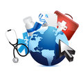 International graph medical concept illustration design over a white background Stock Images