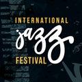 International Jazz music festival retro grunge poster Royalty Free Stock Photo