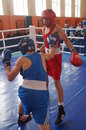 International Junior championship Boxing in Gomel (Belarus). Royalty Free Stock Photography