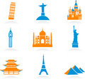International landmark icons Royalty Free Stock Photo