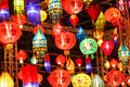 International lanterns chiang mai thailand Stock Photo