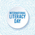 International Literacy Day background. Poster, flyer template.