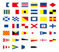 International maritime signal nautical flags, isolated on white background