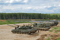 International military technical forum army ground alabino moscow oblast russia jun armored vehicles before the the demonstration Stock Photos