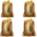 International Money Bags Royalty Free Stock Photo