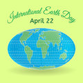 International Mother Earth Day theme. 3d globe or world map as a symbol of environmental and climate literacy. You can add your ow Royalty Free Stock Photo