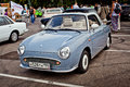 International motor show moscow russia july small retro car nissan figaro exhibited at the annual autoexotica on july in moscow Stock Photos