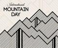 International Mountain Day vector illustration.