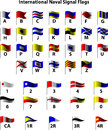 International Naval Signal Flags Stock Images