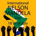 International Nelson Mandela Day concept.