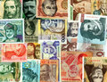 International paper currencies background. Stock Photos