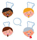 International skin Chef cooks icons Royalty Free Stock Photo