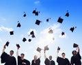 International Students Celebrating Graduation Royalty Free Stock Photo