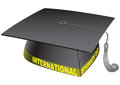 International students day student classic hat with the words vector illustration Royalty Free Stock Photos