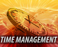 International time management background Royalty Free Stock Photo