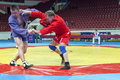 The international tournament on sambo in st petersburg february Royalty Free Stock Image
