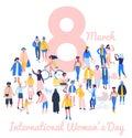 International womens day 8 March, women empowerment movement Royalty Free Stock Photo