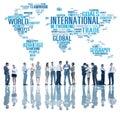 International World Global Network Globalization International C Royalty Free Stock Photo