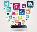 Internet application concept background illustration of Stock Images