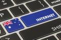 Internet in Australia concept, 3D