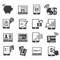 Internet banking icons set of Royalty Free Stock Photos