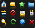 Internet_black background icon set Royalty Free Stock Images
