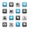 Internet & Blog // Matte Icons Series Royalty Free Stock Photography