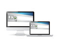 Internet browser window on a computer screen illustration design Royalty Free Stock Photography