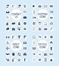 Internet Business Office and Shopping Icons Set Royalty Free Stock Photo