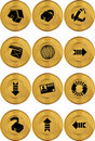 Internet Buttons - Gold Coin Stock Photography