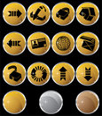 Internet Buttons - Round Royalty Free Stock Photo