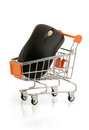 Internet buy mouse in your shopping cart clipping pack Stock Photo