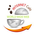 Internet cafe icon Stock Photos