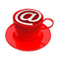 Internet Cafe Icon Royalty Free Stock Photo