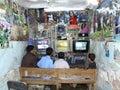 Internet cafe in Yemen Royalty Free Stock Photos