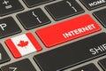 Internet in Canada concept, 3D