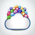 Internet cloud with icons many icon on the system Stock Image