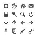 Internet communication icon set, vector eps10 Royalty Free Stock Photo