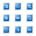 Internet communication icons Stock Images