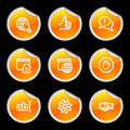 Internet communication icons Royalty Free Stock Photo