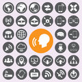 Internet and communication icons set.vector/eps10. Royalty Free Stock Photo