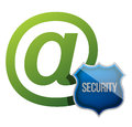 Internet communication security shield Royalty Free Stock Photography