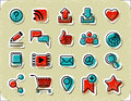 20 Internet Communication Stickers Royalty Free Stock Photo