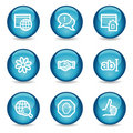 Internet communication web icons, glossy sphere Royalty Free Stock Photos