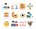 Internet Community and Social Network Icons Stock Image